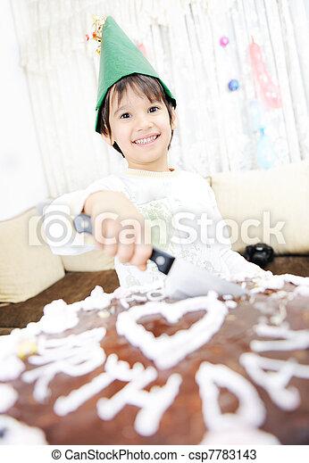 cake boy birthday  happiness - csp7783143