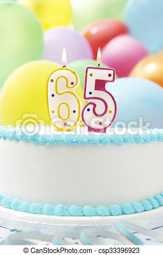 Cake Celebrating 65th Birthday