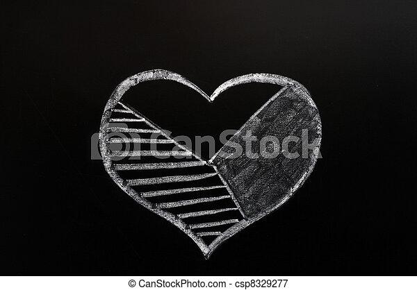 Cake graph of a heart shape - csp8329277