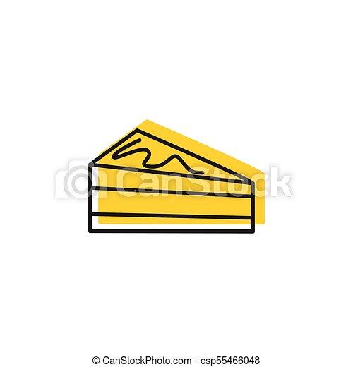 Cake icon, doodle style - csp55466048