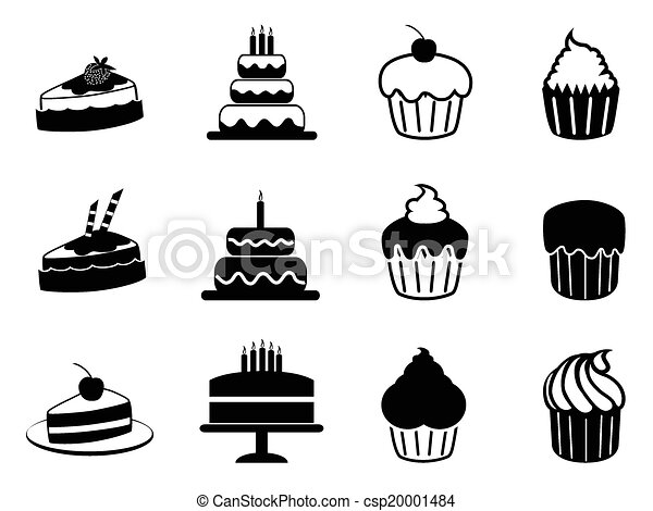 cake icons set - csp20001484