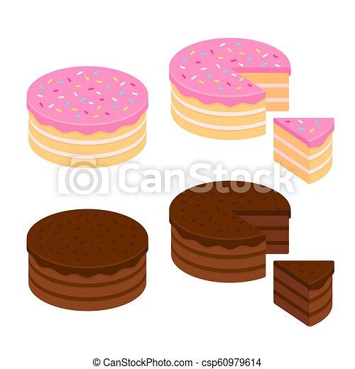 Cake illustration set - csp60979614