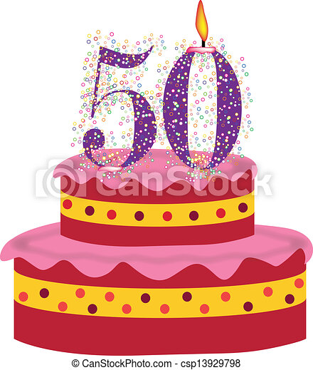 Cake Of Fiftieth Birthday