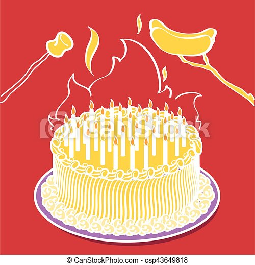 Groovy Cake On Fire Birthday Cake Bonfire A Birthday Cake With So Many Personalised Birthday Cards Veneteletsinfo