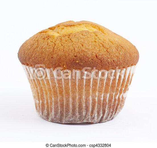 Cake on white background - csp4332804