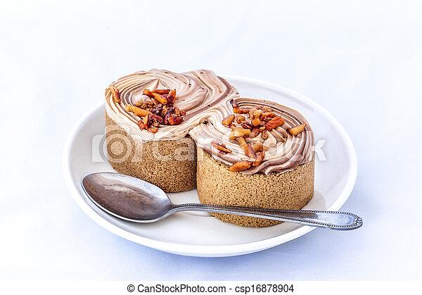 cake on white background - csp16878904