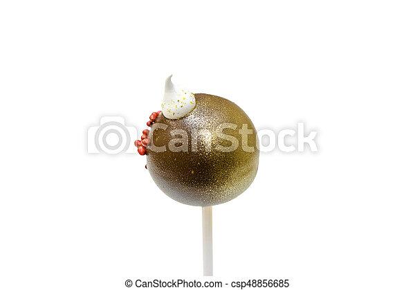 Cake pop on white - csp48856685