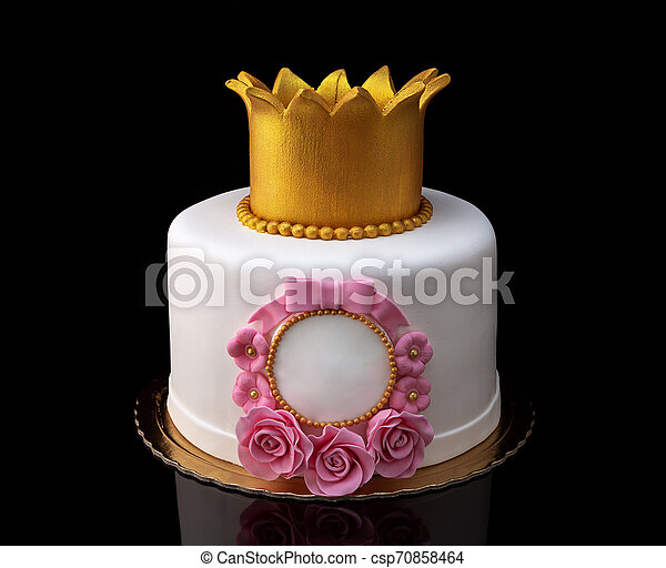 Strange Cake With A Crown For The Girls Birthday Cake With A Crown For Personalised Birthday Cards Bromeletsinfo