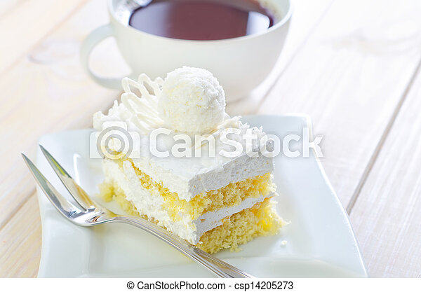 Cake with coffee - csp14205273