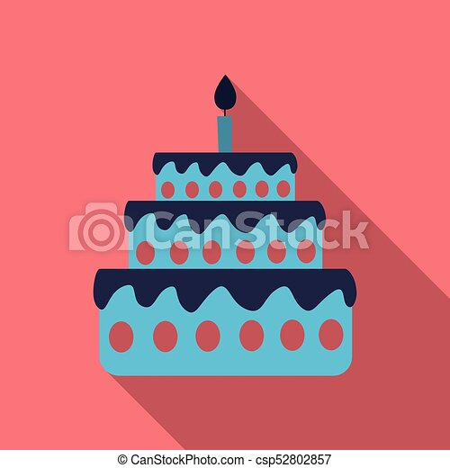 Cake with one candle - csp52802857