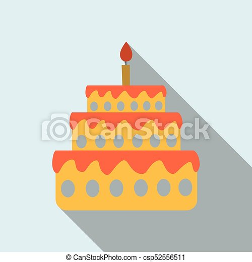 Cake with one candle - csp52556511