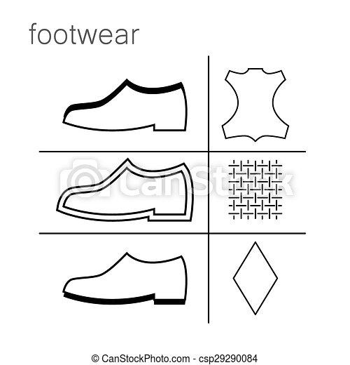 99d779fc4 Calçado, etiqueta. Sapatos, -, etiqueta, símbolos, calçado ...