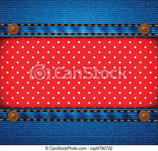 calças brim, quadro, ponto polka, remendo - csp9790722