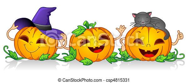 Calabazas felices - csp4815331