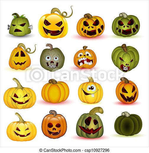 Calabazas, halloween, caricatura. Arte, resumen, halloween, creativo ...