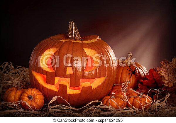 Calabazas de Halloween - csp11024295