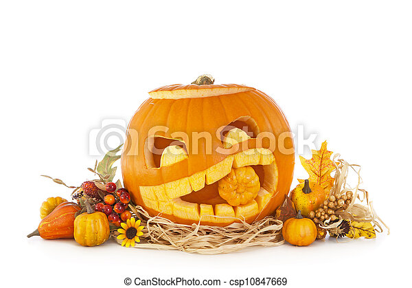 Calabazas de Halloween - csp10847669