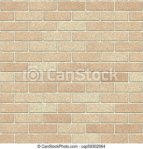 Calais Cream Bricks Seamless Texture - csp59302064