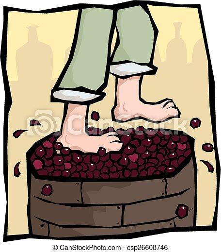 calcamento, uva - csp26608746