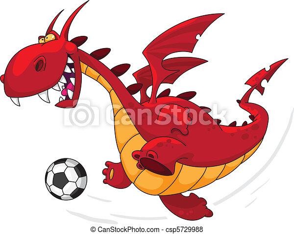 calciatore, drago - csp5729988