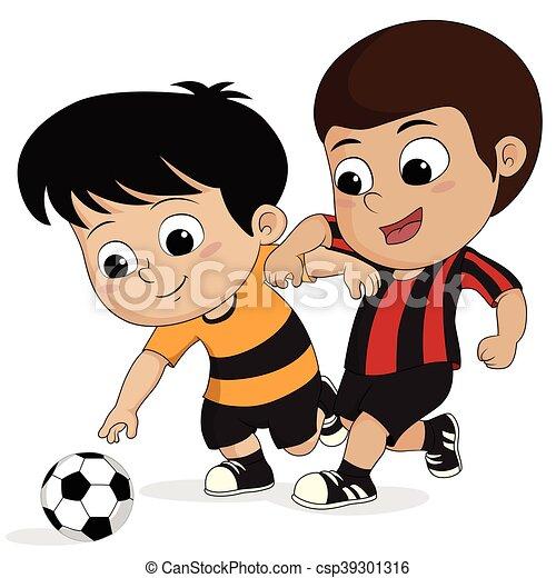 Calcio cartone animato kid kid vector calcio illustration