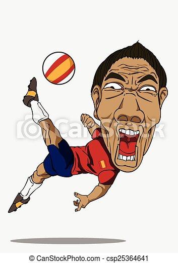 calcio, player., spagna - csp25364641