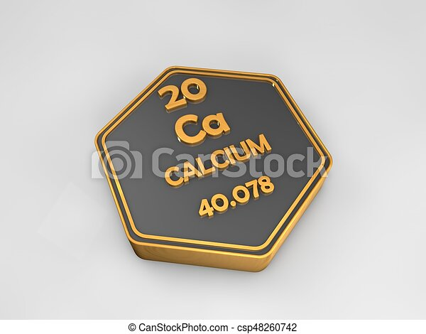 Calcium ca chemical element periodic table hexagonal shape 3d calcium ca chemical element periodic table hexagonal shape 3d illustration urtaz Choice Image