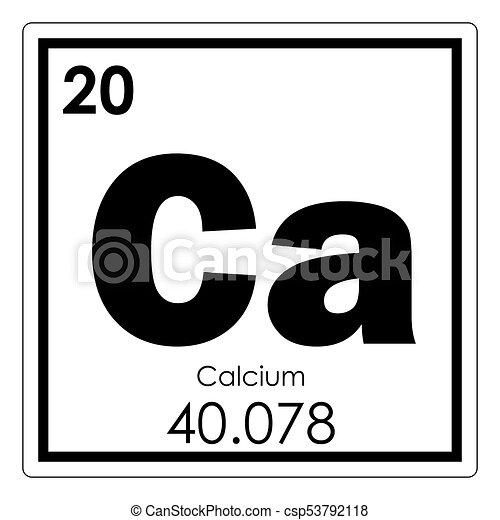 Calcium Chemical Element Periodic Table Science Symbol