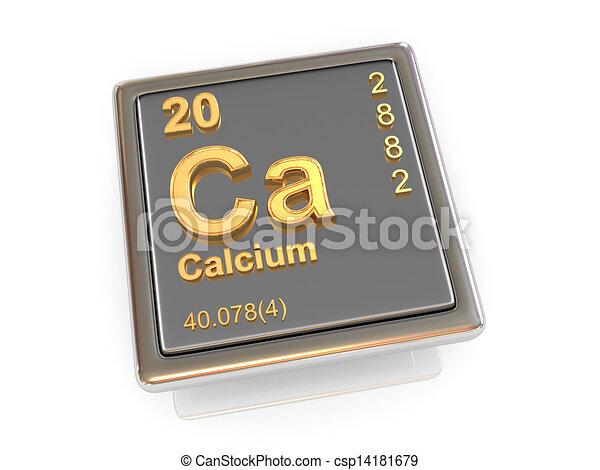 Calcium Chemical Element 3d