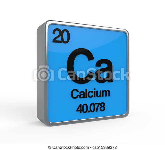 Calcium Element Periodic Table Isolated On White Background 3d Render