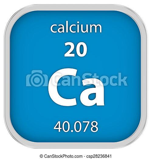 Calcium material sign - csp28236841