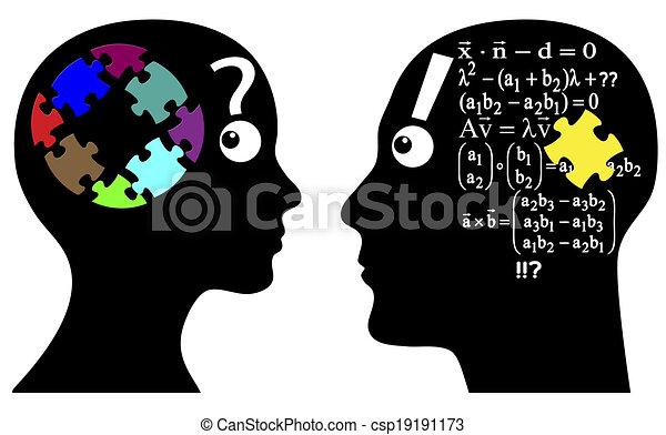 Calcul, intuition, ou. Femme, problèmes, instinct ...