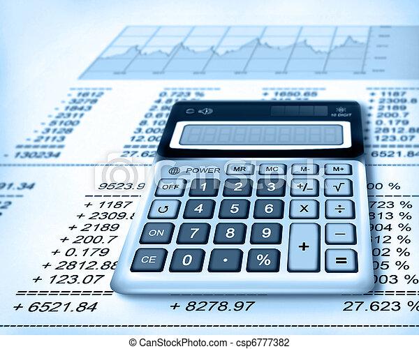 calculadora, finanças - csp6777382