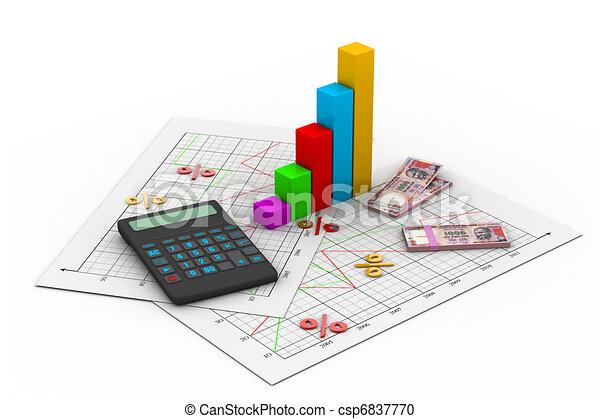Tarjeta de negocios con calculadora - csp6837770