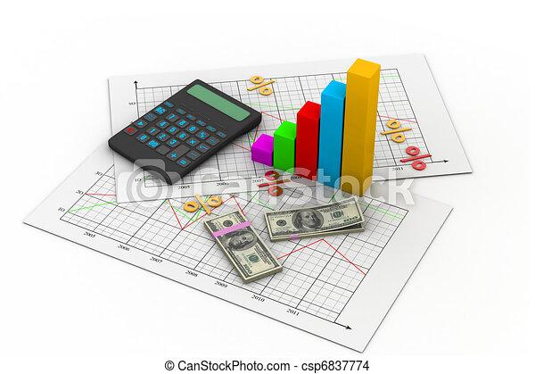 Tarjeta de negocios con calculadora - csp6837774