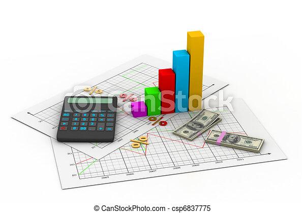 Tarjeta de negocios con calculadora - csp6837775
