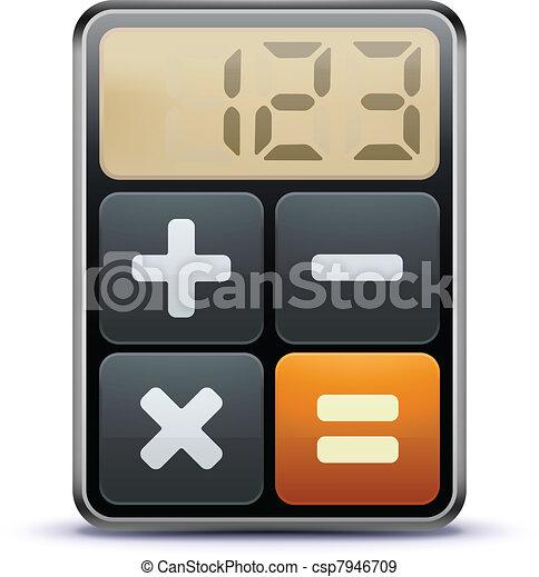 Un icono del calculador - csp7946709