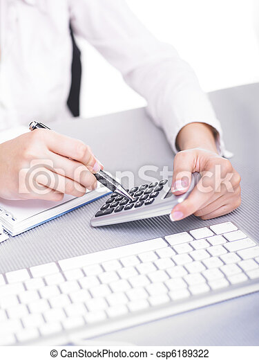 Calculating with calculator - csp6189322