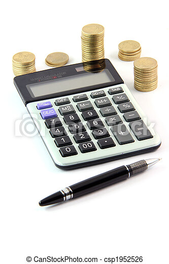 calculator and money - csp1952526