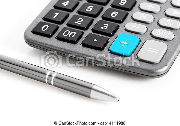 Calculator and pen. - csp14111988