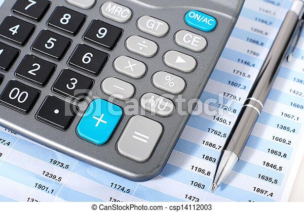 Calculator and pen. - csp14112003