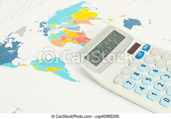 Calculator as symbol of business - conceptual series - csp40969395