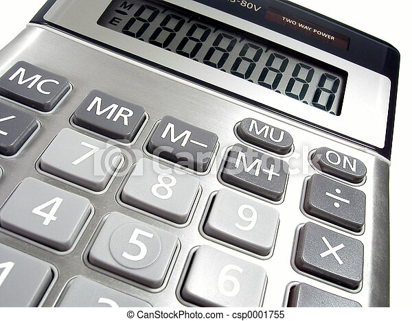 Calculator Close-up - csp0001755