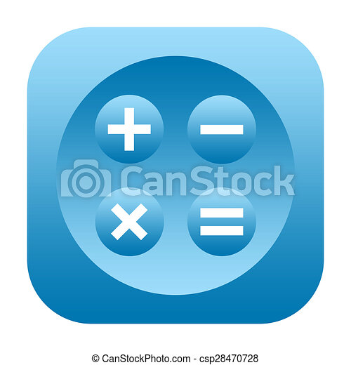 Calculator icon - csp28470728