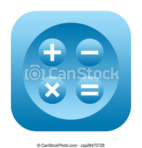 Calculator icon - csp28470728