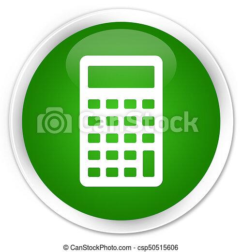 Calculator icon premium green round button - csp50515606