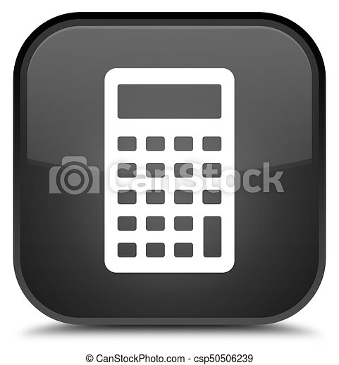 Calculator icon special black square button - csp50506239