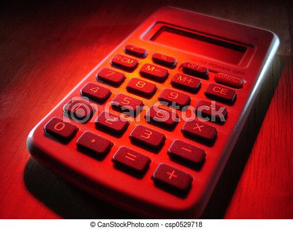 Calculator in Red - csp0529718