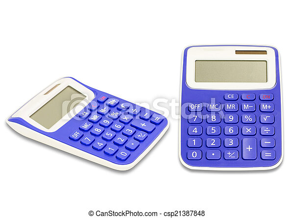 Calculator isolated on a white background - csp21387848