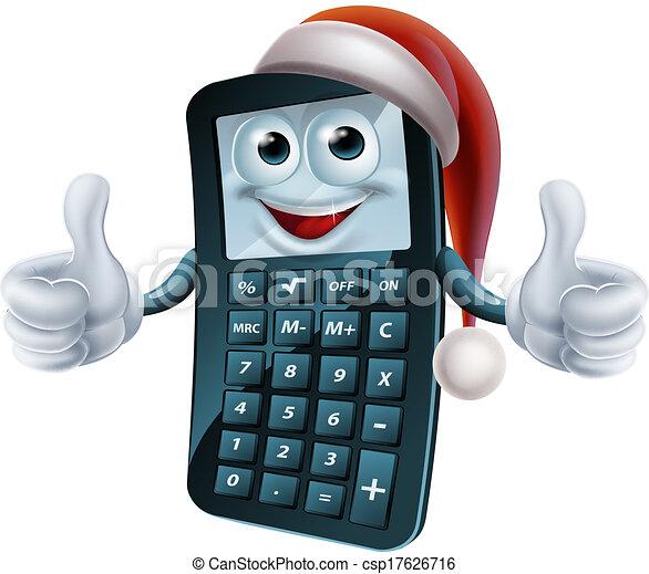 Calculator math christmas character. Calculator maths christmas ...